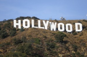 Hollywood cartel con letras grandes