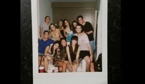 Cena brasileña con nuestros compañeros de clase