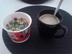 Froot loops y café con leche